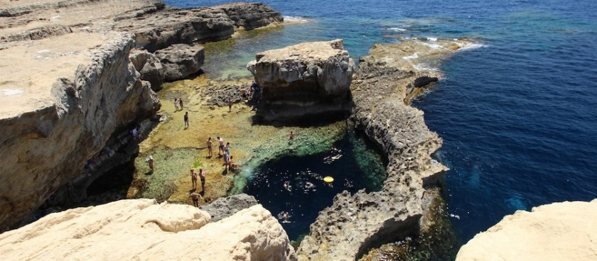 A Natural Pool Near Dwejra Bay