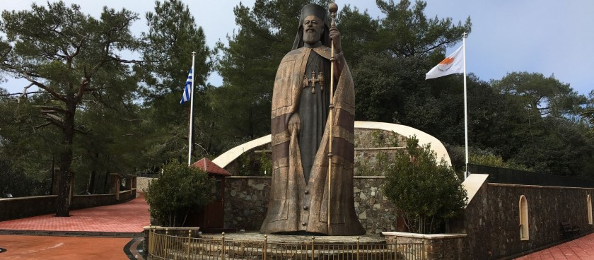 Monument to The First President of Cyprus Archbishop Makarios III