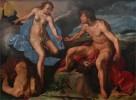 "Hendrik Goltzius (1558-1616). ""Mercury Gives the Eyes of Argus to Juno"" (1615)"