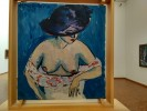 Ernst Ludwig Kirchner - Weiblicher Halbakt mit Hut (Female Nude with Hat), 1911