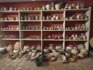 Rack full of pots