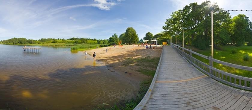 Saldus Lake and Beach