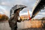 The statue - fountain Student of Jelgava